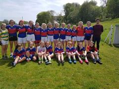 Girls Footballers play County SemiFinal