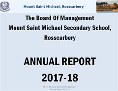 Board Of Management Annual Report 2017-18